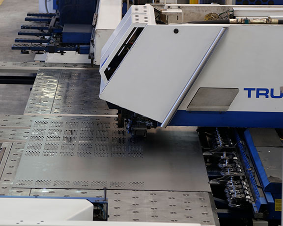 Combined laser sheet punching