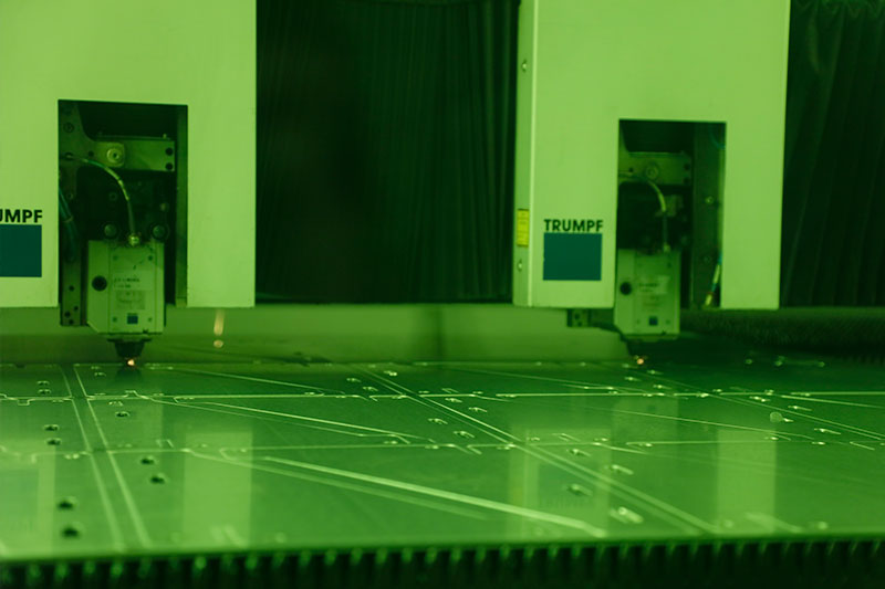 Metal sheet laser cutting